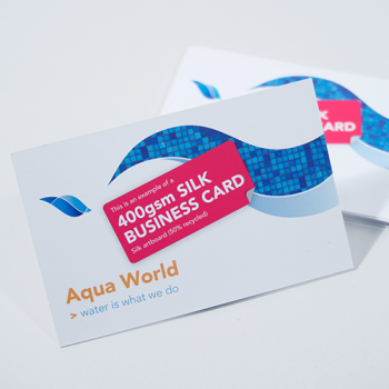 400gsm Silk Business Cards