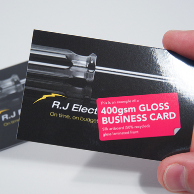 Gloss laminated business cards reheart Gallery