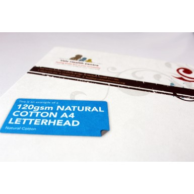 120gsm Natural Cotton Letterheads