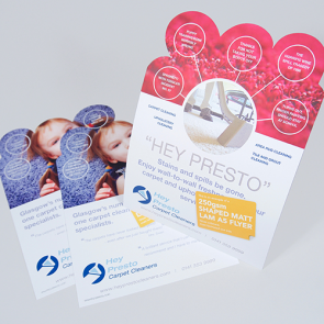 Matt Laminated Shaped Flyers - 250gsm