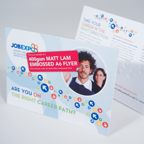 Embossed Matt Lam Flyers - 400gsm