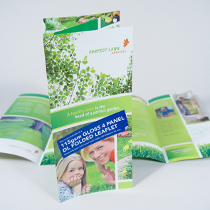 Gloss Folded Leaflets - 115gsm