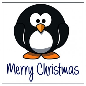 Christmas Card - Percy Penguin