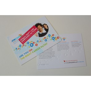 Embossed Matt Lam Shaped Flyers - 400gsm