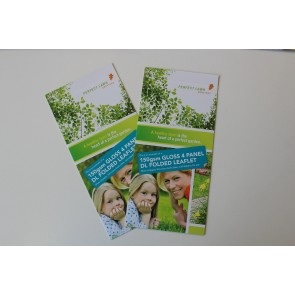Gloss Folded Leaflets - 150gsm