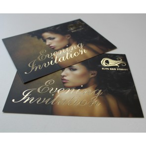 Uncoated Foil Flyers - 600gsm