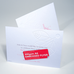 Embossed Uncoated Flyers - 300gsm