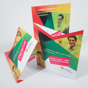 Matt Laminated Shaped Flyers - 400gsm