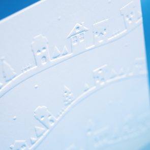 Embossed Uncoated Shaped Flyers - 300gsm