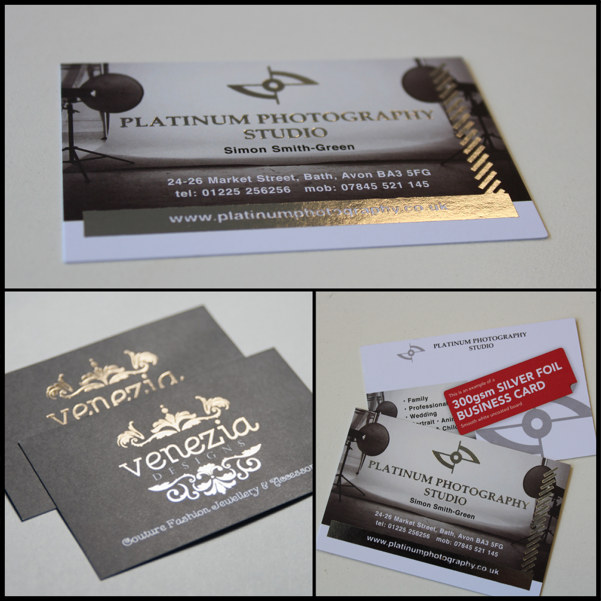 Business cards foil cards reheart Images