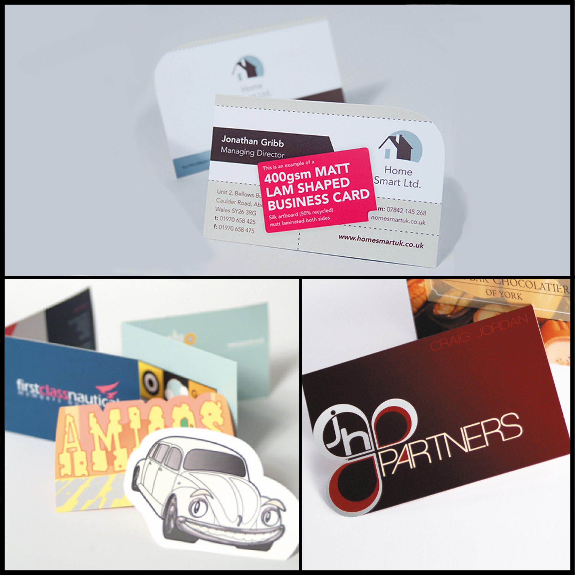 Business cards shaped cards reheart Choice Image